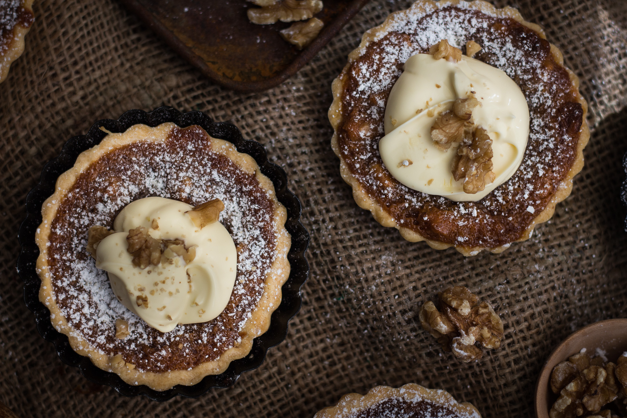 Caramel Walnut Tarts Gluten Free 7