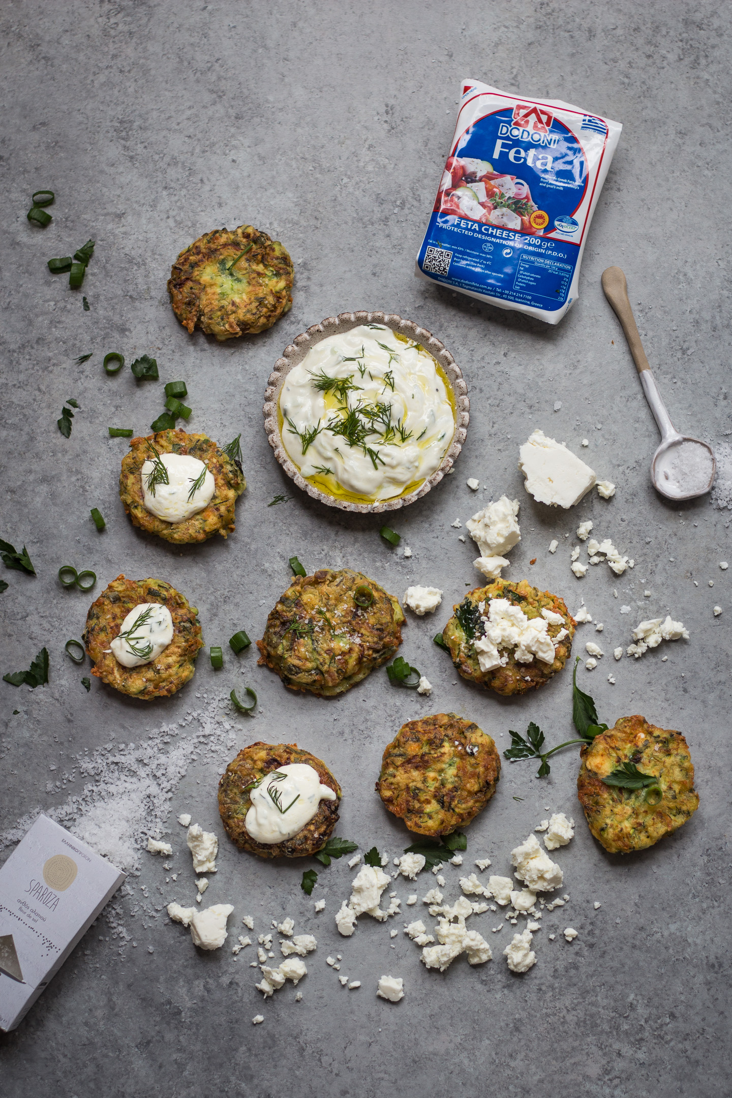 GREEK KOLOKITHOKEFTEDES (ZUCCHINI, FETA AND HERB FRITTERS) GLUTEN FREE RECIPE 4