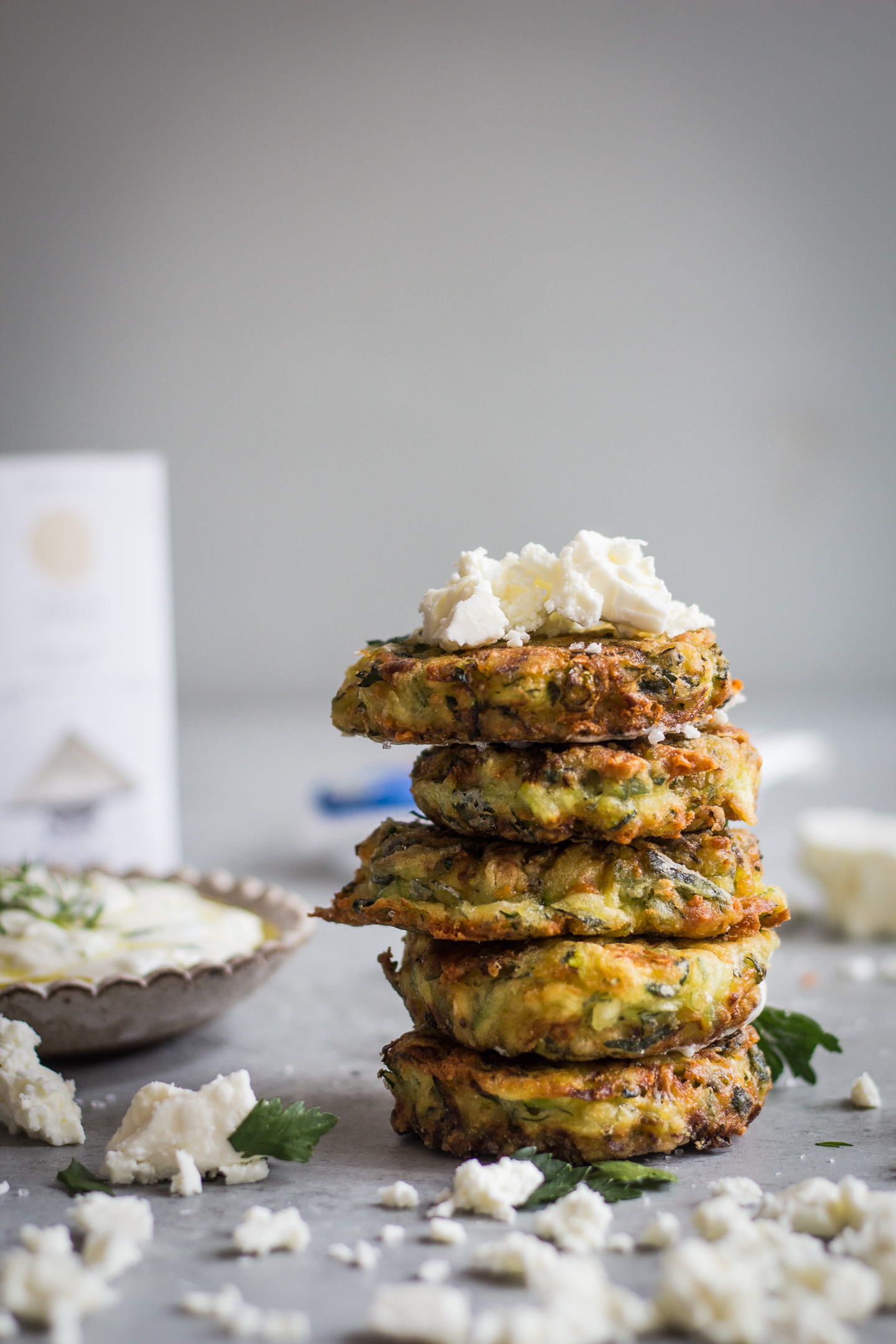 GREEK KOLOKITHOKEFTEDES (ZUCCHINI, FETA AND HERB FRITTERS) GLUTEN FREE RECIPE 5