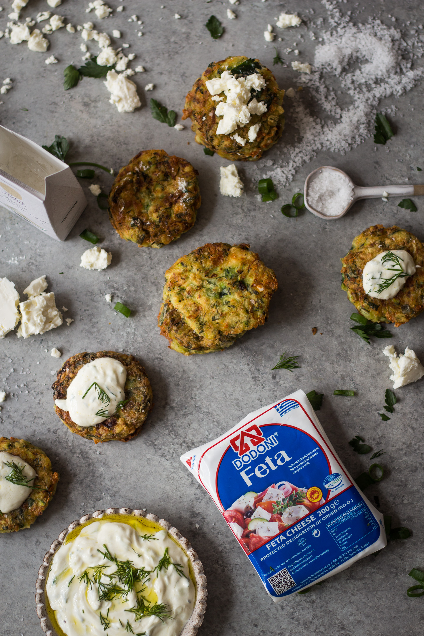 GREEK KOLOKITHOKEFTEDES (ZUCCHINI, FETA AND HERB FRITTERS) GLUTEN FREE RECIPE 7