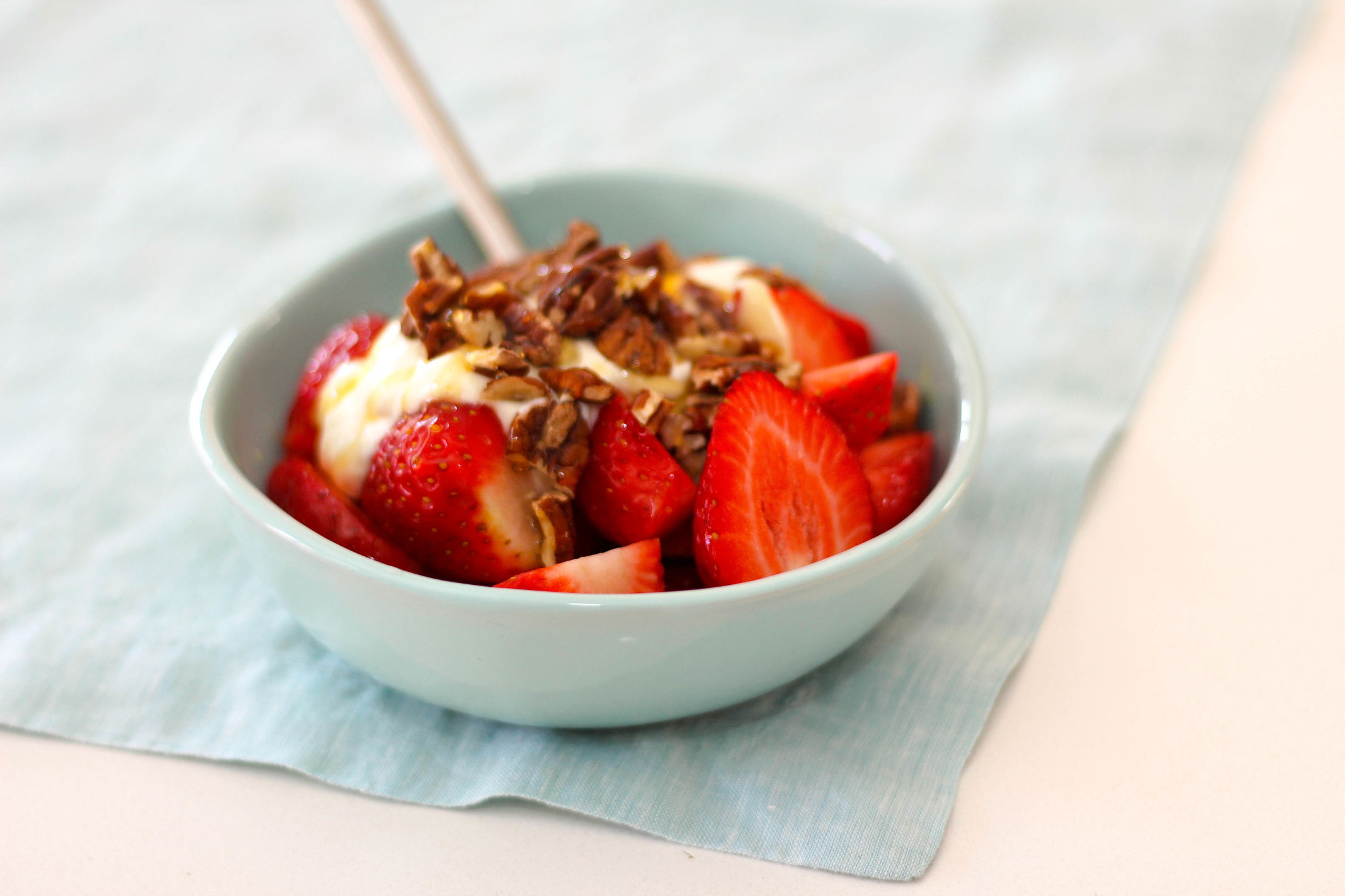 Organic Strawberries with Greek Yoghurt, Honey, Pecans Gluten Free 2-2