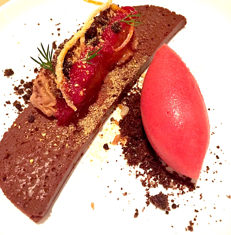 The Press Club Chocolate Mousse Blood Orange Sorbet