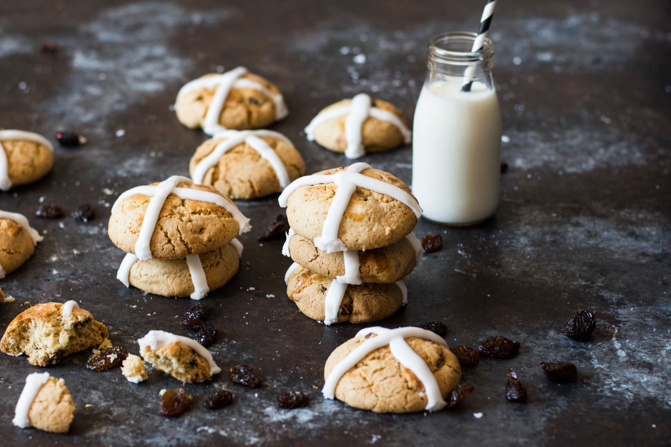 Hot Cross Bun Cookies Recipe