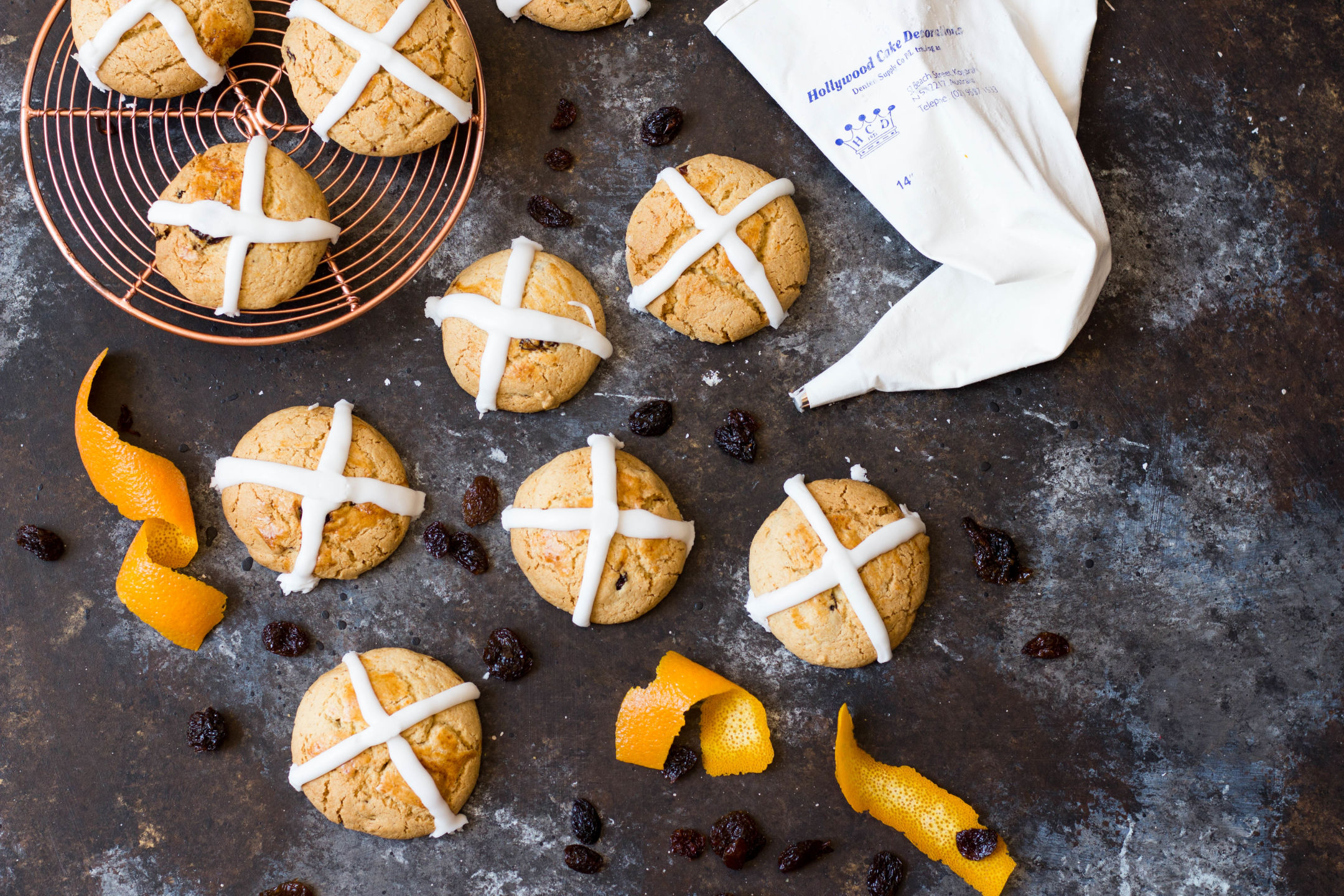 Hot Cross Bun Cookies Gluten Free