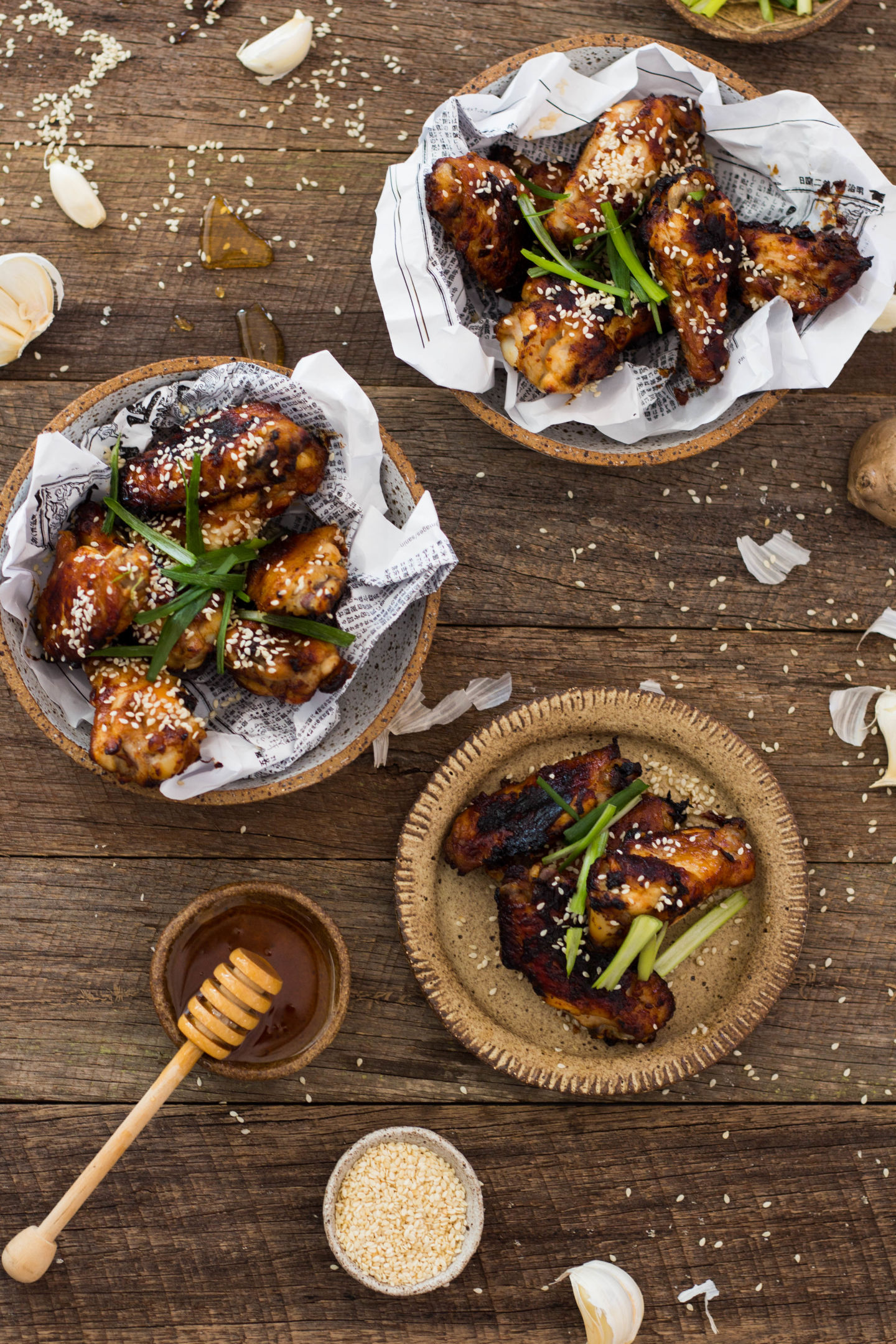 Baked Miso Chicken Wings Gluten Free