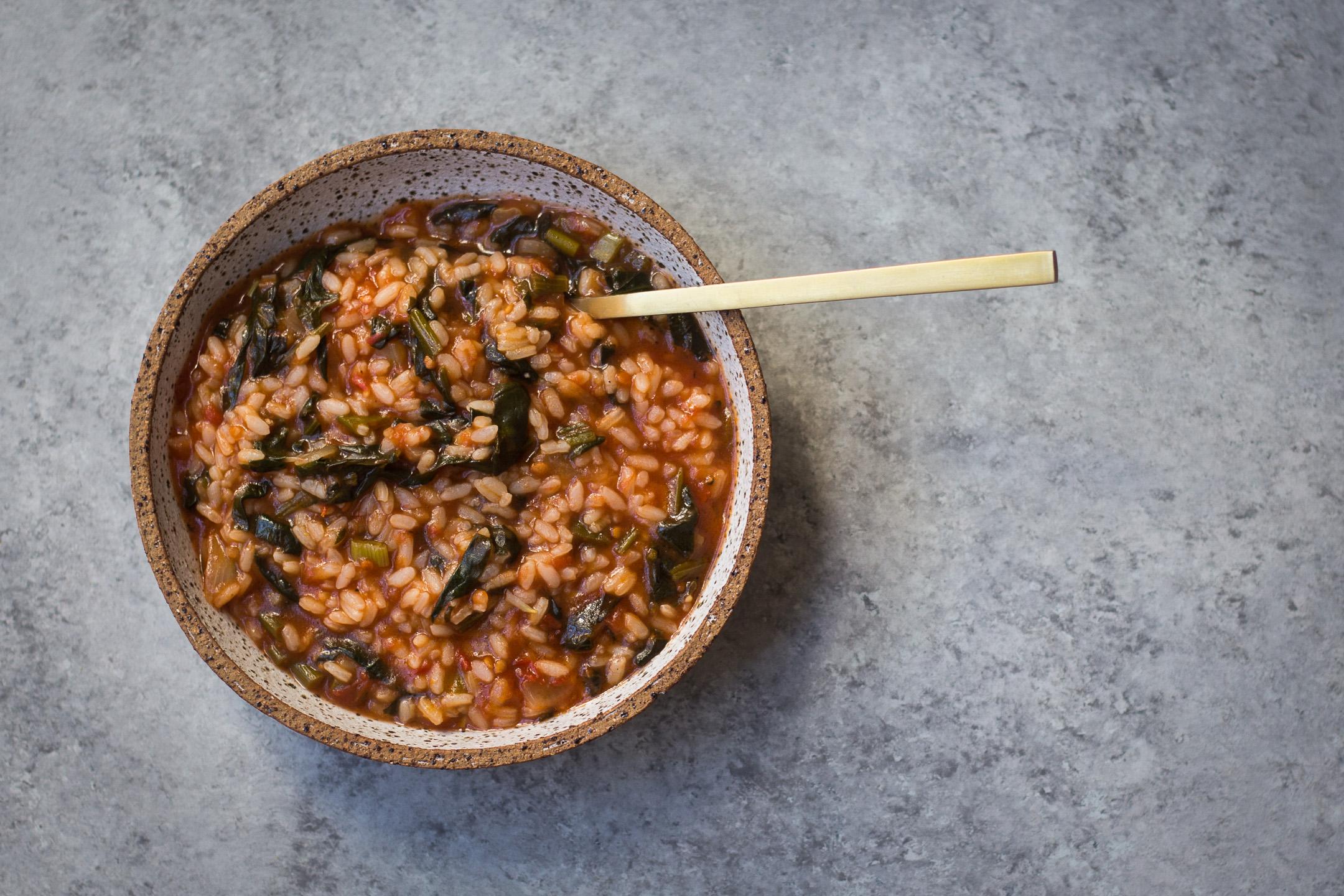 Spanakorizo (Spinach & Rice Pilaf) 1