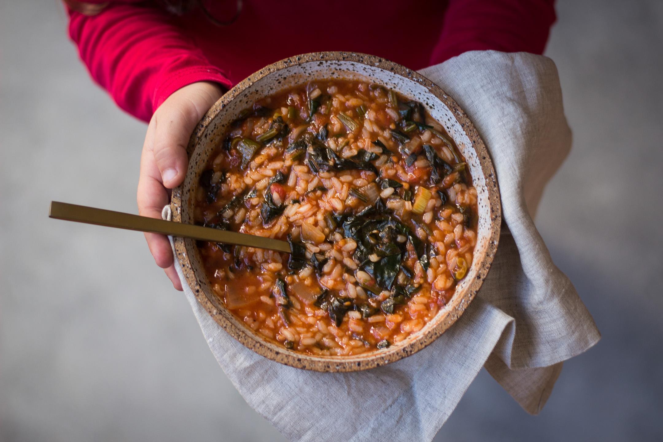 Spanakorizo (Spinach & Rice Pilaf) 3