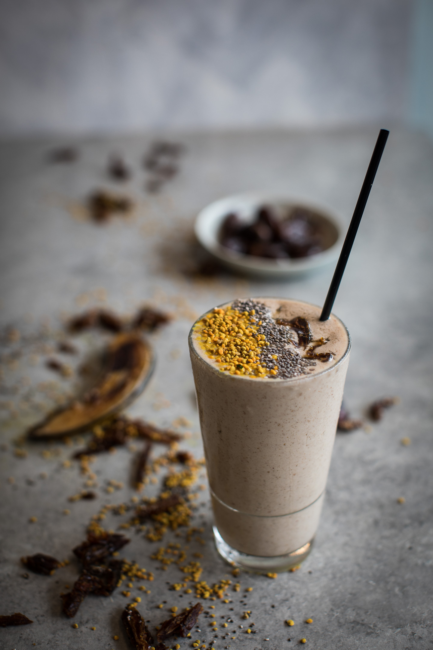 Vegan Banana Salted Caramel Smoothie