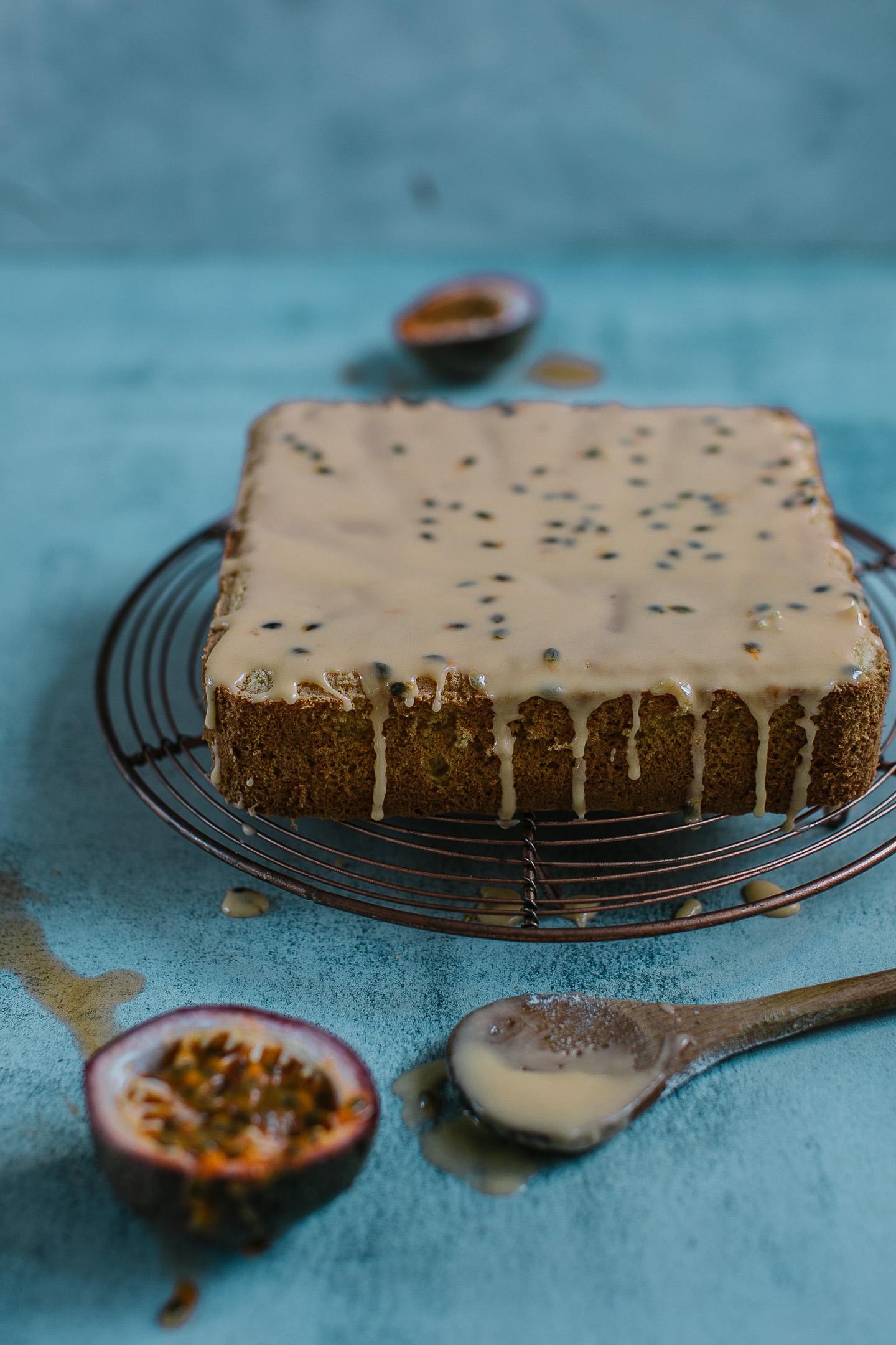 Gluten and dairy free passionfruit sponge cake recipe